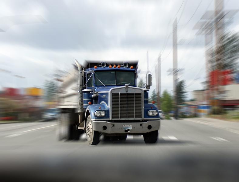 large tractor trailer semi truck